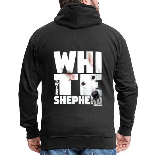NASSU White Shepherd - Miesten premium vetoketjullinen huppari