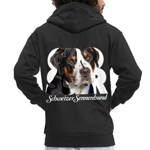 Grosser Schweizer Sennenhund - Miesten premium vetoketjullinen huppari
