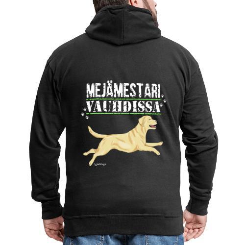 Labradori Mejämestari - Miesten premium vetoketjullinen huppari
