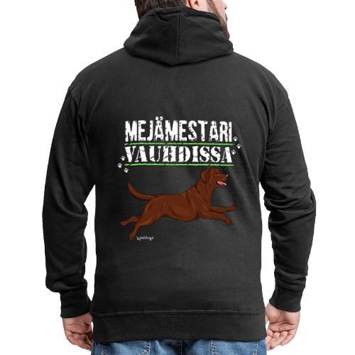 Labradori Mejämestari3 - Miesten premium vetoketjullinen huppari