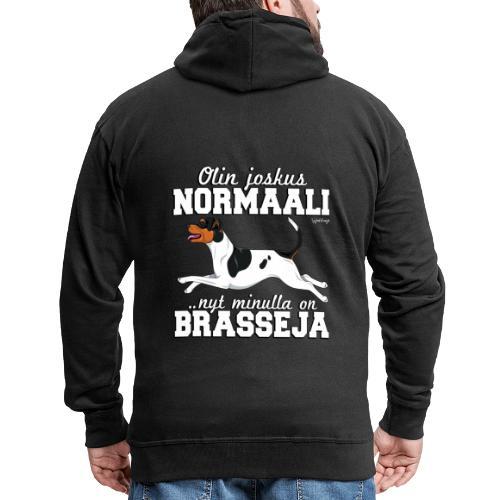 Brasilianterrieri Normaali - Miesten premium vetoketjullinen huppari