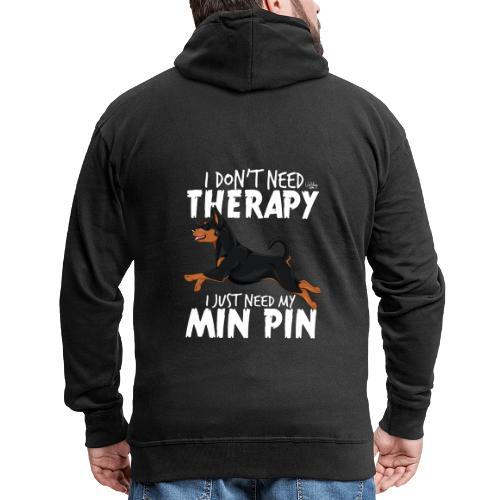 minpintherapy3 - Miesten premium vetoketjullinen huppari