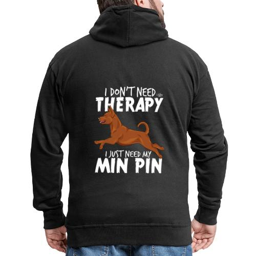 minpintherapy4 - Miesten premium vetoketjullinen huppari