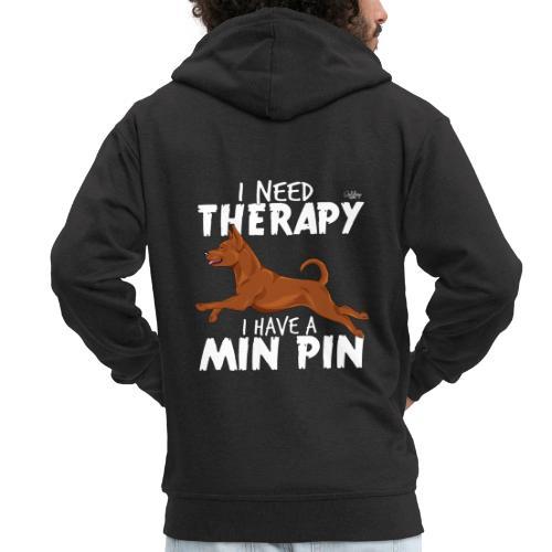 minpintherapy - Miesten premium vetoketjullinen huppari