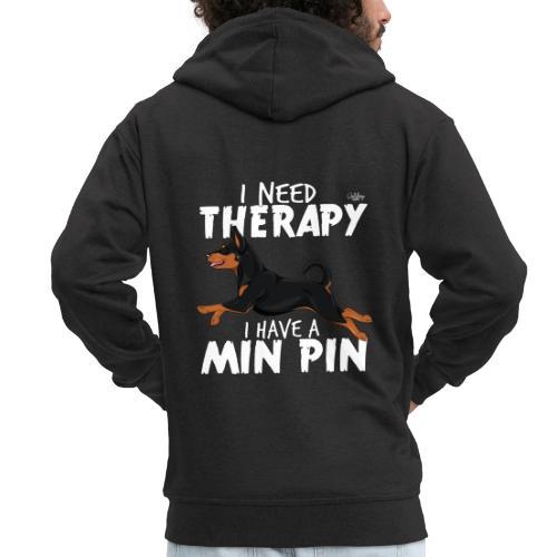 minpintherapy2 - Miesten premium vetoketjullinen huppari