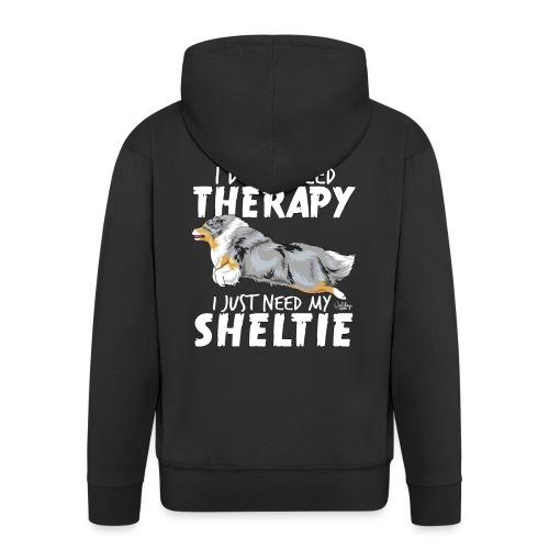 sheltietherapy4 - Men's Premium Hooded Jacket