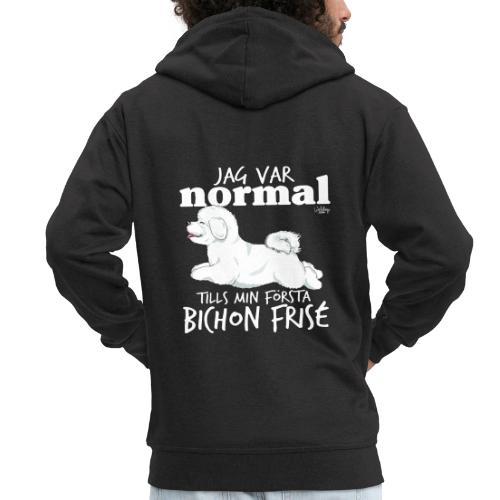bichonnormalswe - Miesten premium vetoketjullinen huppari