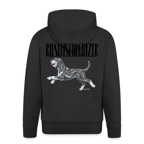 Riesenschnauzer 01 - Men's Premium Hooded Jacket