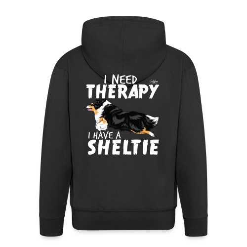 sheltietherapy2 - Men's Premium Hooded Jacket