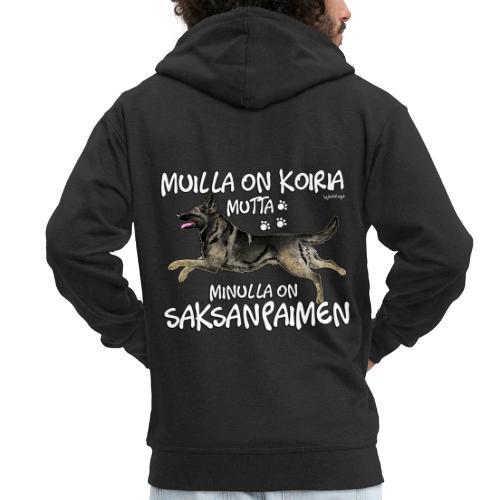 Saksanpaimen Koiria - Miesten premium vetoketjullinen huppari