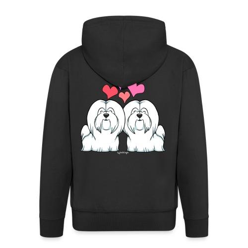 Coton De Tuléar Love - Men's Premium Hooded Jacket