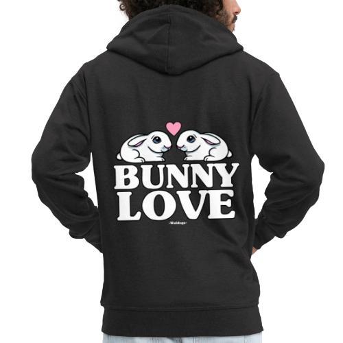 Bunny Love 2 - Miesten premium vetoketjullinen huppari