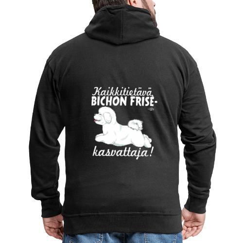 bichonkasvattaja - Miesten premium vetoketjullinen huppari
