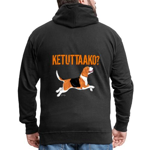 Ketuttaako Beagle - Miesten premium vetoketjullinen huppari