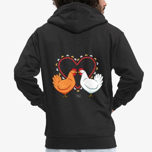 Chicken Love - Miesten premium vetoketjullinen huppari