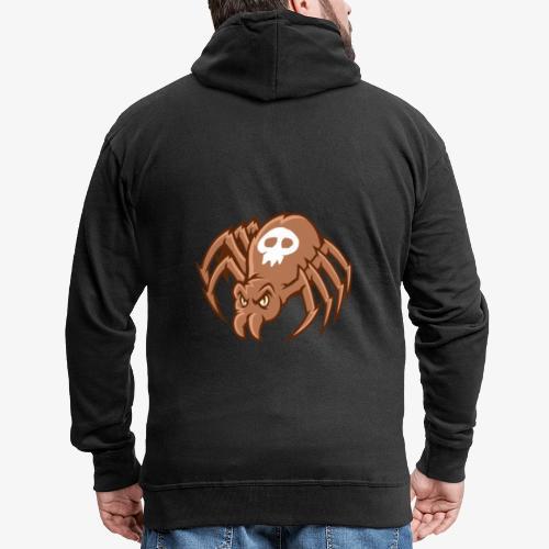 Angry Spider - Miesten premium vetoketjullinen huppari