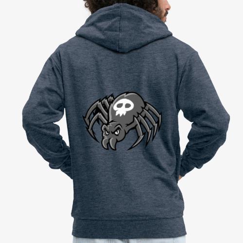 Angry Spider III - Miesten premium vetoketjullinen huppari