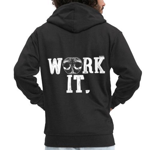 Nose Work It - Miesten premium vetoketjullinen huppari