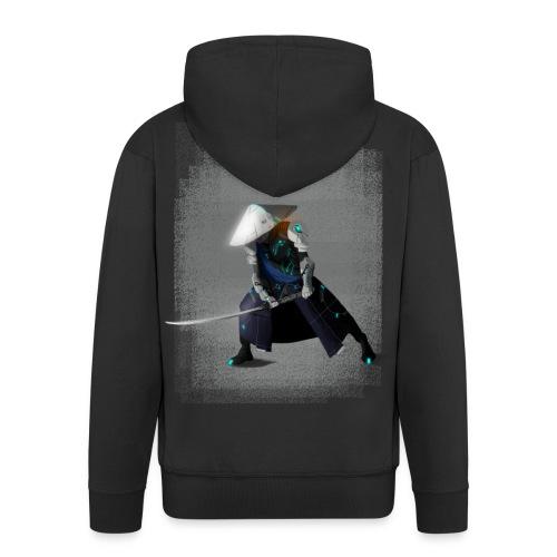 Futuristico Samurai - Felpa con zip Premium da uomo