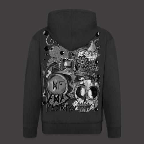 AGAC Picture Noir et Blanc - Veste à capuche Premium Homme