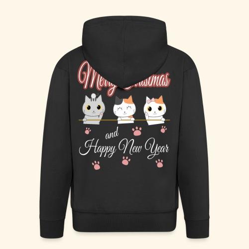 Cat Cats Katze Katzen Weihnachten Merry Christmas - Männer Premium Kapuzenjacke