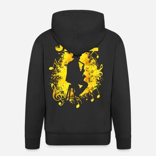 Jazz Saxophonist - Männer Premium Kapuzenjacke