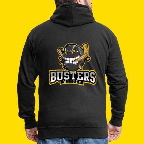 Busters Fun Shirt - ANGRY PUCK - Männer Premium Kapuzenjacke