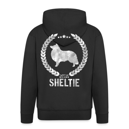 sheltiearmy3 - Men's Premium Hooded Jacket