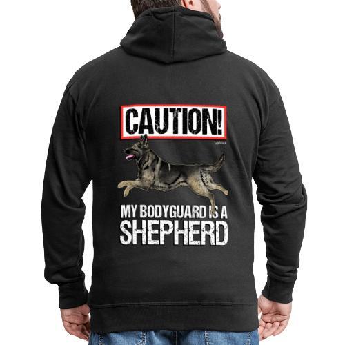 German Shepherd Bodyguard - Miesten premium vetoketjullinen huppari