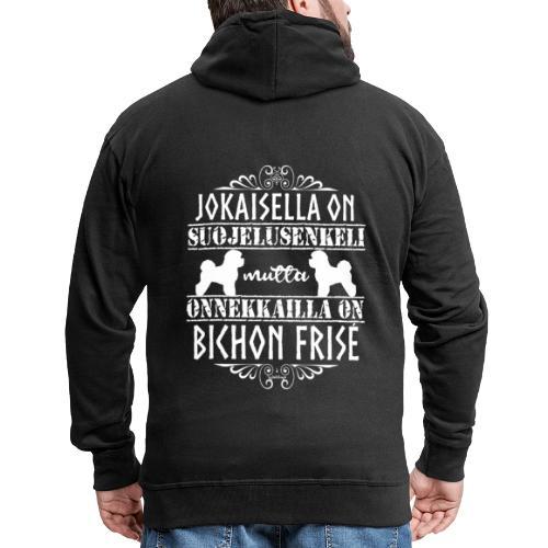 bichonfriseenkeli - Miesten premium vetoketjullinen huppari