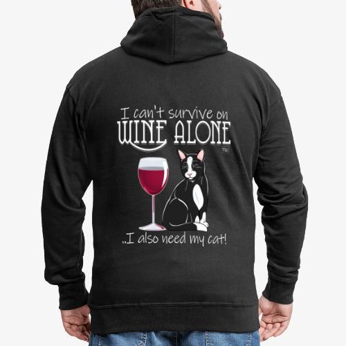 Wine Alone Cat II - Miesten premium vetoketjullinen huppari