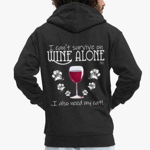 Wine Alone Cat III - Miesten premium vetoketjullinen huppari