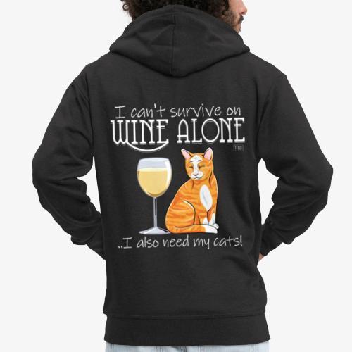 Wine Alone Cats II - Miesten premium vetoketjullinen huppari