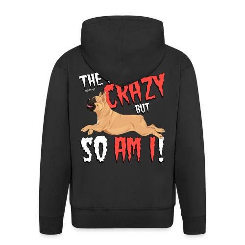 French Bulldog Crazy 6 - Men's Premium Hooded Jacket