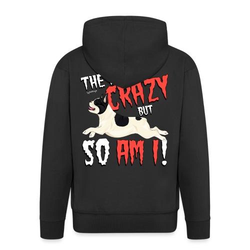 French Bulldog Crazy 3 - Men's Premium Hooded Jacket