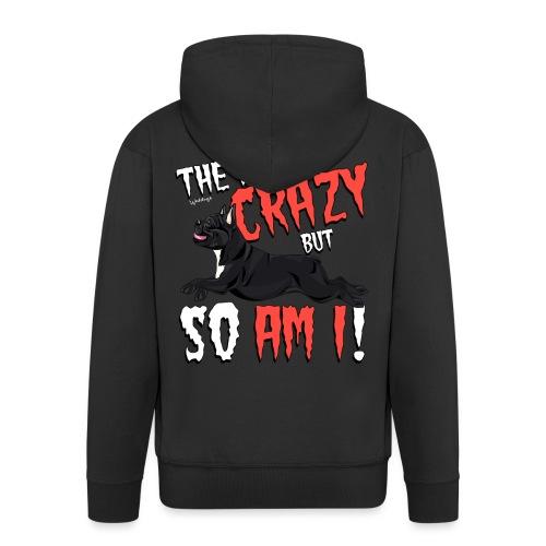 French Bulldog Crazy - Men's Premium Hooded Jacket