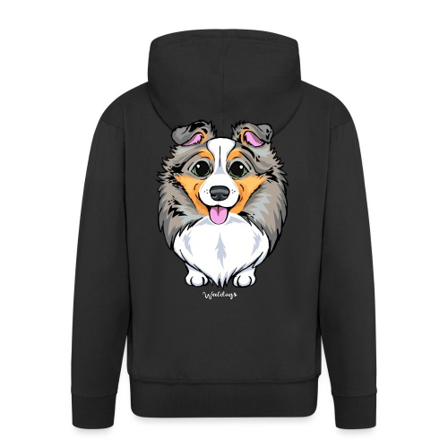 Sheltie Dog Cute 2 - Men's Premium Hooded Jacket