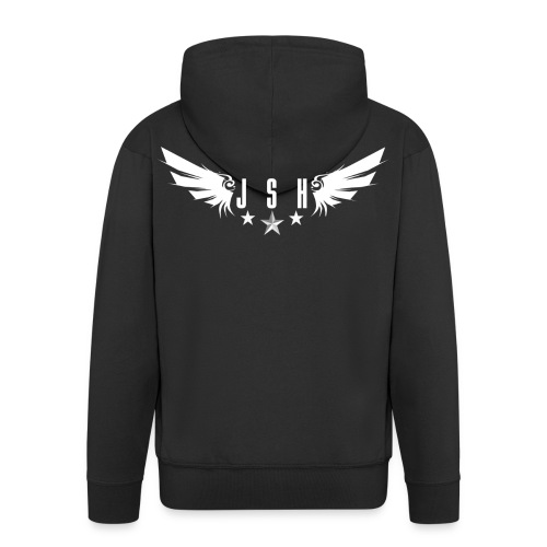 JSHLogo 1w png - Men's Premium Hooded Jacket