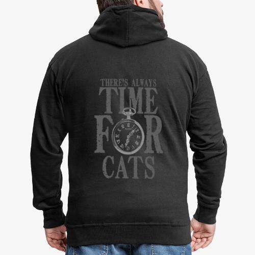 Time For Cats - Miesten premium vetoketjullinen huppari