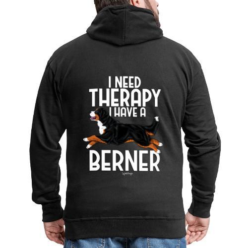 Bernese Berner Therapy 2 - Miesten premium vetoketjullinen huppari