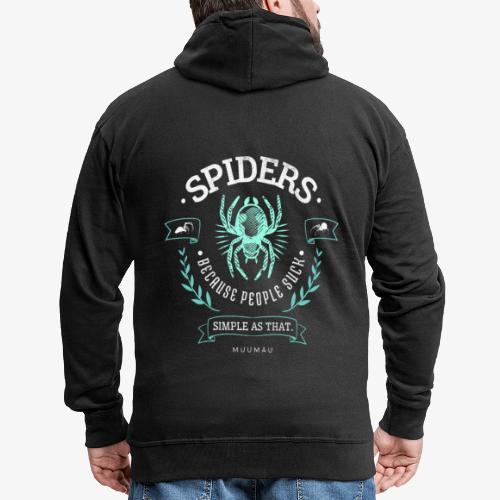 Spiders People Suck I - Miesten premium vetoketjullinen huppari
