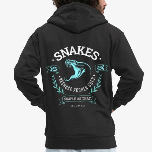 Snakes - People Suck - Miesten premium vetoketjullinen huppari