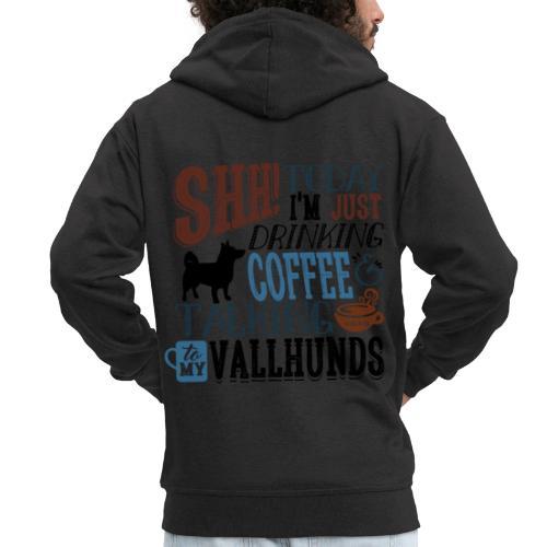 SHH Vallhund Coffee B - Miesten premium vetoketjullinen huppari