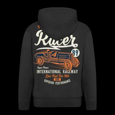Speed Racer - camisa de regalo auto del coche de la vendimia - Chaqueta con capucha premium hombre