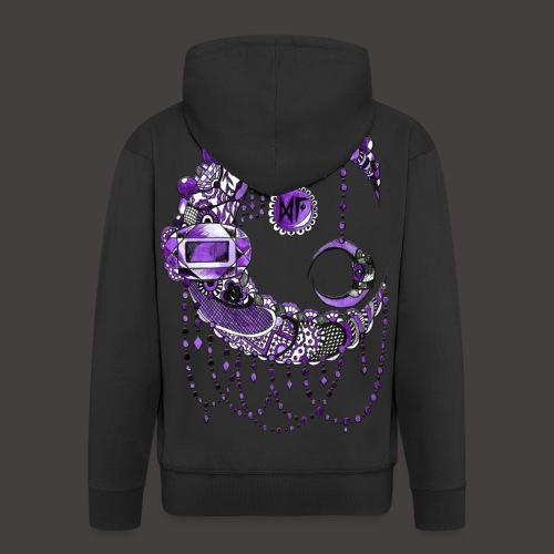 Lune dentelle Violette - Veste à capuche Premium Homme