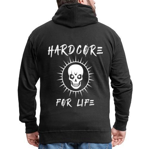 H4rdcore For Life - Men's Premium Hooded Jacket
