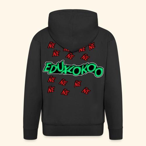 logo de eduxlokoo ñe - Chaqueta con capucha premium hombre