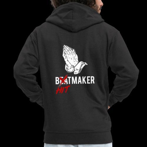 HitMaker Blanc - Veste à capuche Premium Homme