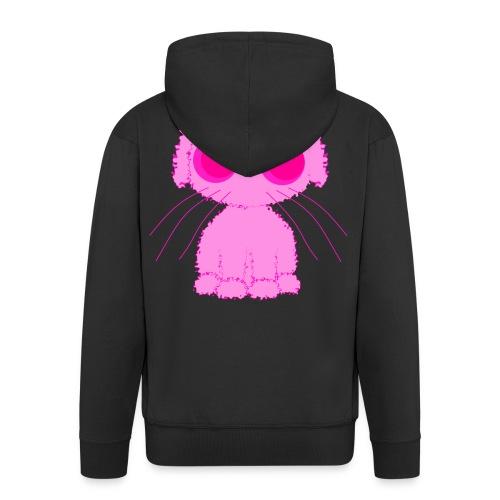 lurvig neonrosa kawaii anime doodle hund - Men's Premium Hooded Jacket