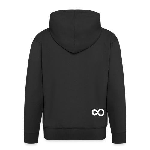 nooitaf inf vector white svg - Men's Premium Hooded Jacket